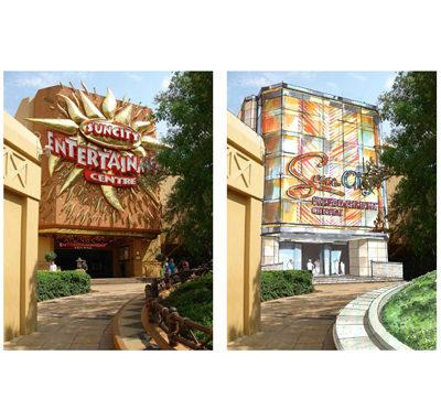 Sun City's new entrance to Entertainment Centre