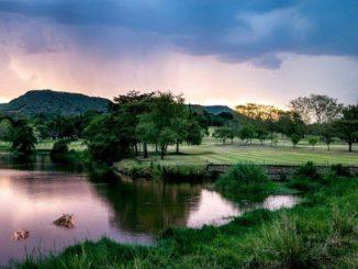 Sabi River Sun landscape
