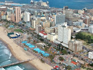 Aerial view of Durban