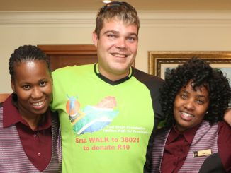 Paul Steyn, an amputee, motivational speaker and founder of the Paul Steyn Foundation, recently stopped in Worcester on his trek to Cape Town. When his journey ends on 2 December 2016, Steyn will have covered 7 000km across South Africa, raising finds and awareness for amputees who need prosthesis. Golden Valley sponsored his stay while he was in town. Worcester remains close to Steyn's heart as he spent 2008 to 2011 studying at Boland College. In the picture from left to right are Sizinzile Chole (Golden Valley Receptionist), Paul Steyn, Sinesipho Napete (Golden Valley Receptionist) and Youmna Govinsami (Golden Valley Receptionist).