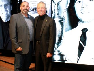 Raul de Lima, with Gary Player at the South African Hall of Fame.